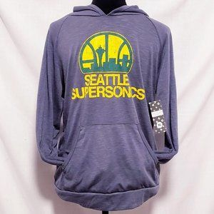 Majestic threads Shirts - Seattle SuperSonics Pullover Hoodie size XL🦅